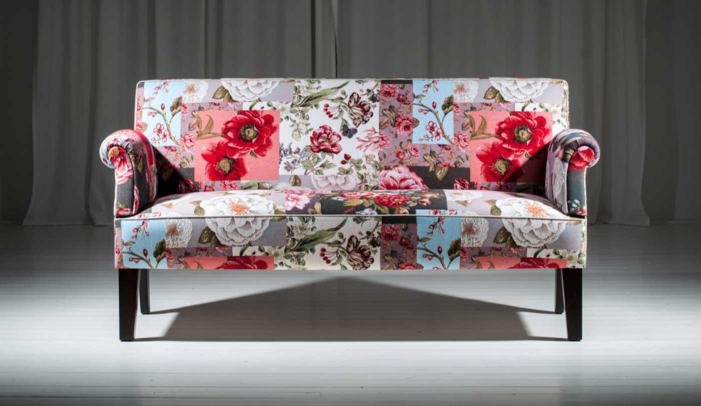Esstischsofa, rosenpatch, romantische Bank