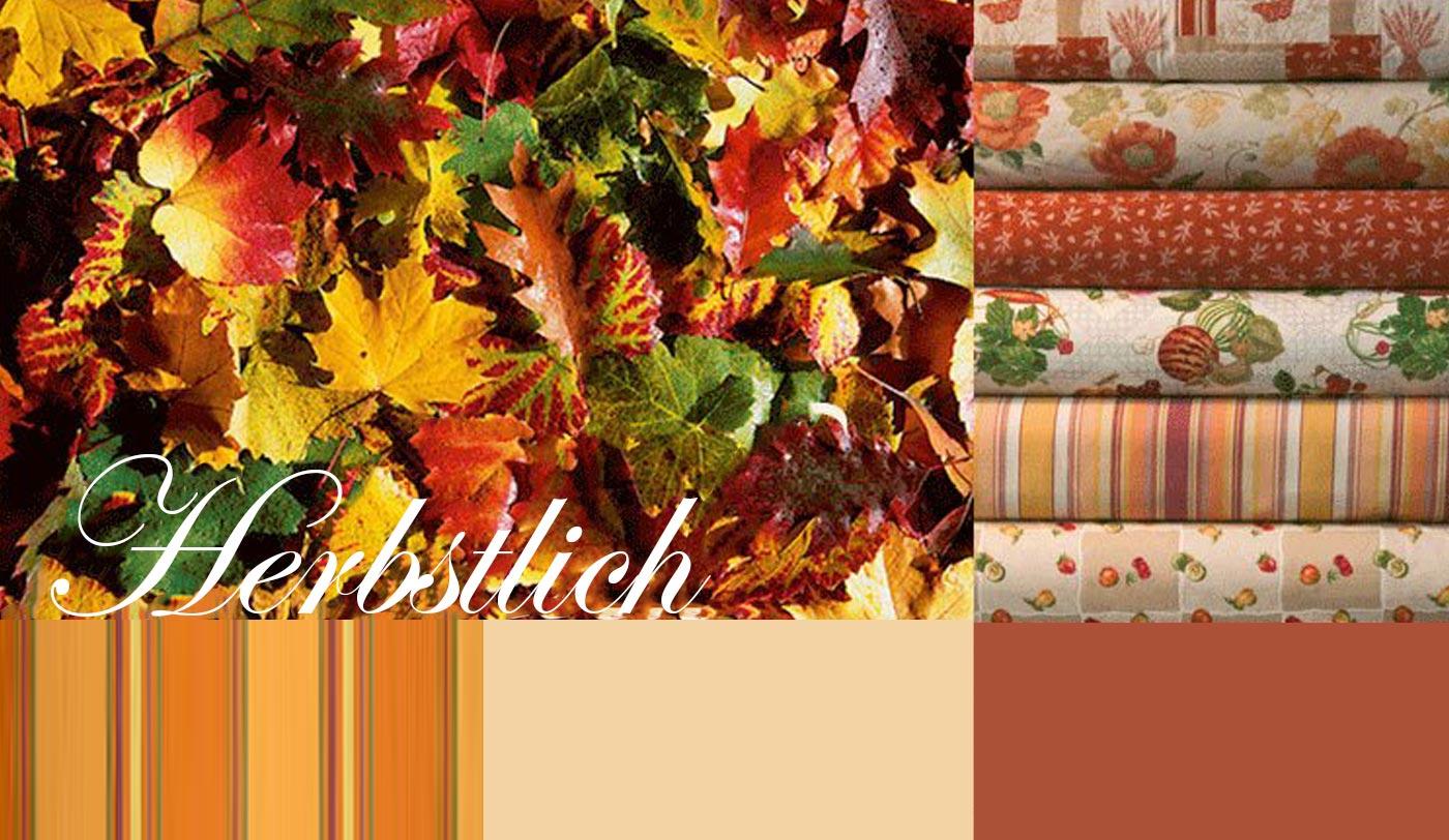 Esstischsofa, Herbststoff, Themenstoffe