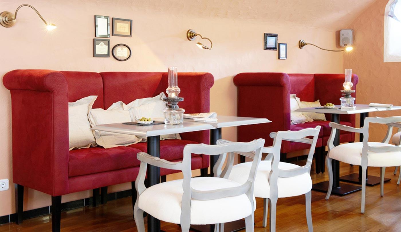 Esstischsofa, Bistrotisch, Banquettesofa, Restaurantbank