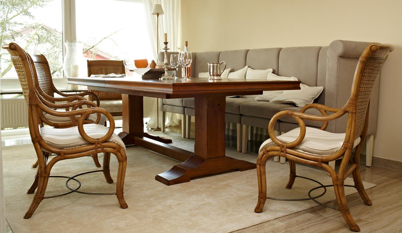 Esstischsofa, gepolstertes Tischsofa, Wohnraumbank, Essecke