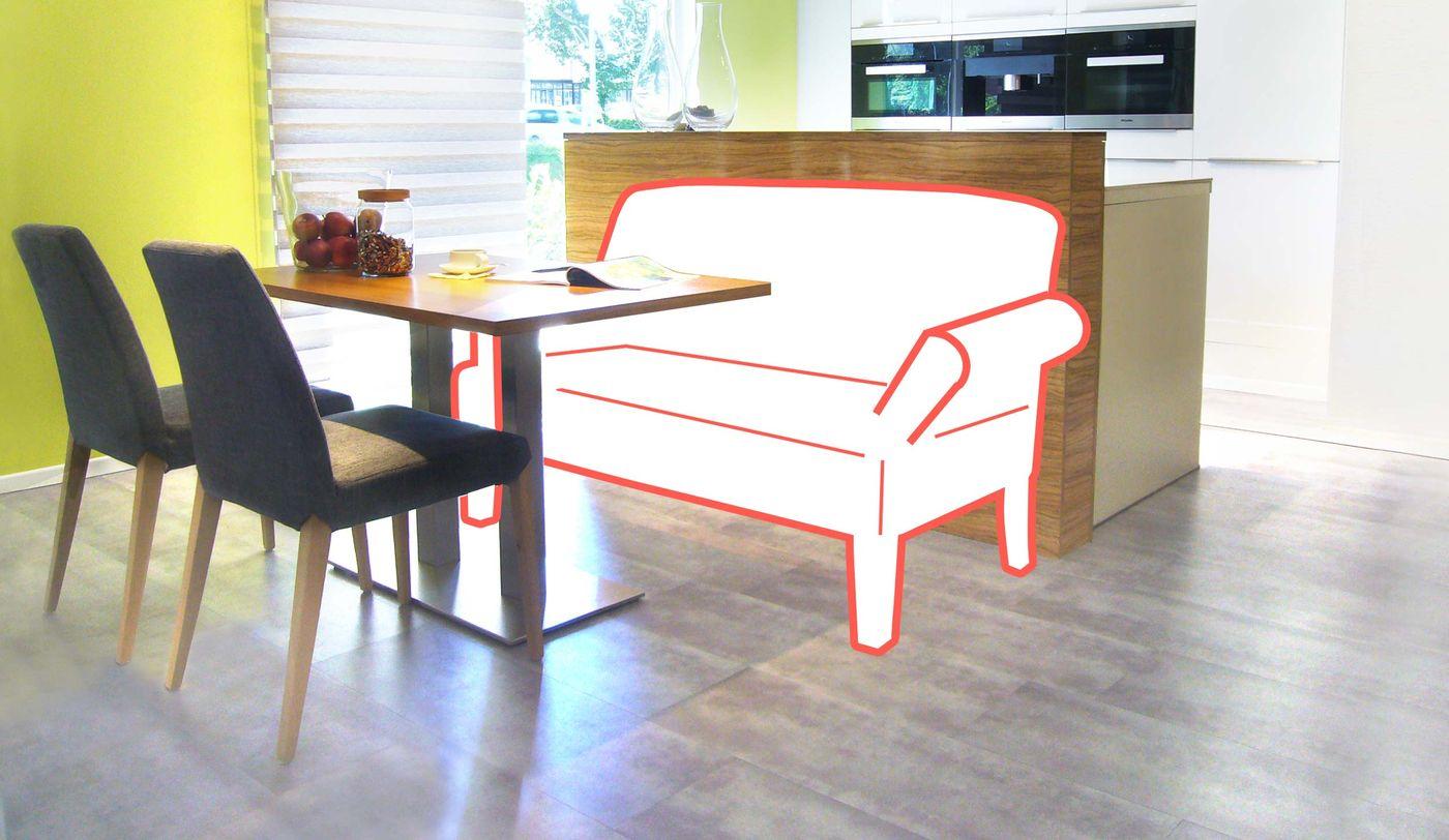 Esstischsofa, Beratung, Einrichtungsberatung, Küche